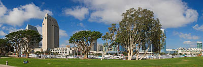 Park In A City, Embarcadero Marina Art Print by Panoramic Images