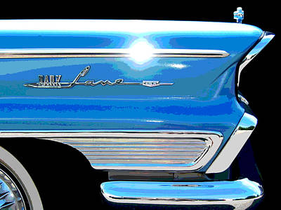 Photograph - Park Lane Flash - Posterized by Larry Hunter