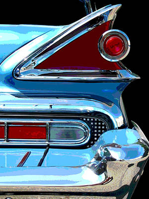 Photograph - Park Lane Tail Light - Posterized by Larry Hunter