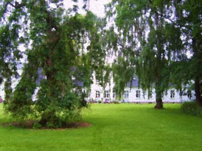 Digital Art - Park Of Merringgaard Manor House_painting by Asbjorn Lonvig