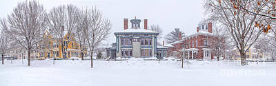 Winter In Maine Photograph - Park Row Panorama by Benjamin Williamson