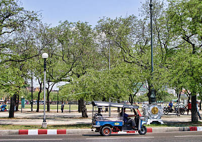 Tuk Tuk Photograph - Park Scene With Tuk Tuk by Linda Phelps