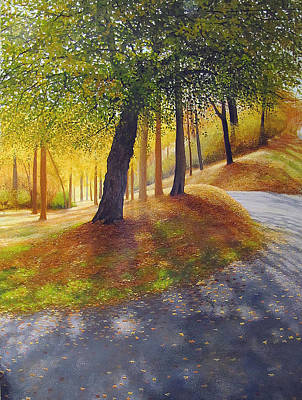 Painting - Park Side Glow by David Bottini