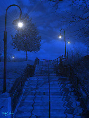 Park Stairs Original by Michael Rucker
