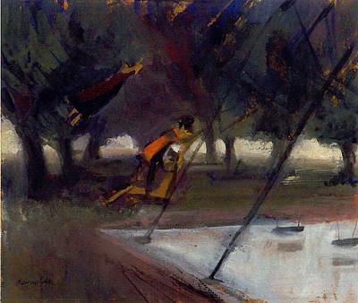 Park Swings Art Print by Ted Reynolds