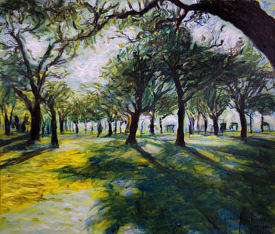 Park Trees Original by Ron Richard Baviello