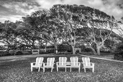Park Under The Oaks Art Print by Debra and Dave Vanderlaan