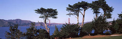 Park With Golden Gate Bridge Art Print by Panoramic Images