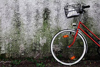 Tyrol Wall Art - Photograph - Parked Bicycle by Christoph Hetzmannseder