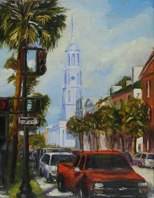Painting - Parked In Charleston by Will Germino