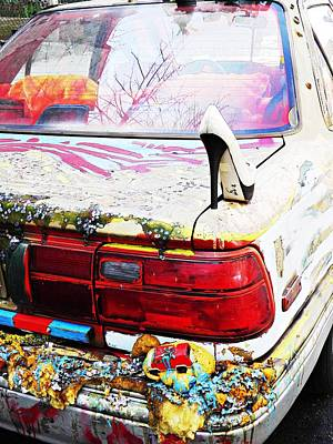 Outsider Art Photograph - Parked On A New York Street by Sarah Loft