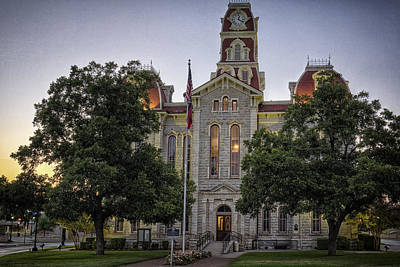 Landmarks Royalty Free Images - Parker County Courthouse Royalty-Free Image by Joan Carroll