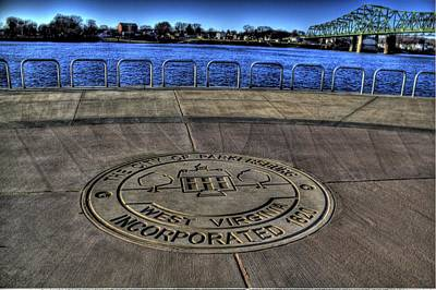 Parkersburg Wv Photograph - Parkerburg City Seal by Jonny D