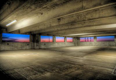 Parking Deck Sunset Art Print