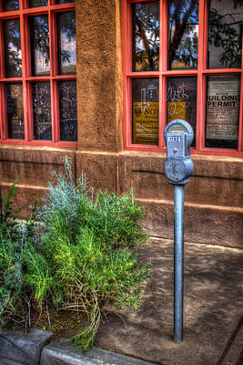 Art Print featuring the photograph Parking Meter On Sidewalk by Dave Garner