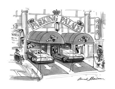 'parking Palace' Art Print by Bernard Schoenbaum