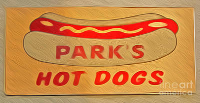 Painting - Park's Hot Dogs by Gregory Dyer