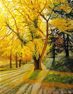 Painting - Parkside At Maple by David Bottini
