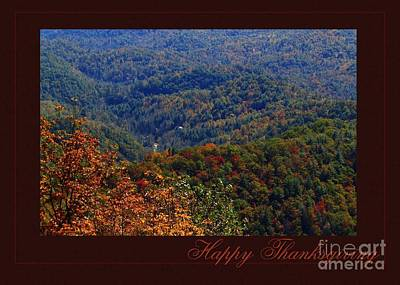 Digital Art - Parkway Happy Thanksgiving by JH Designs