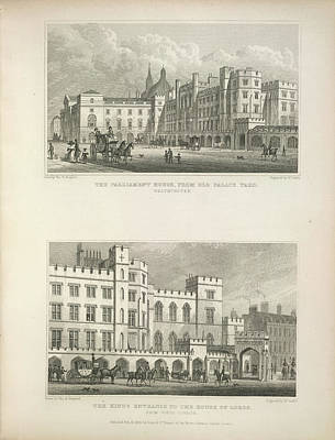 Parliament And House Of Lords Art Print by British Library