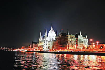 Photograph - Parliament And The Danube by Elvis Vaughn