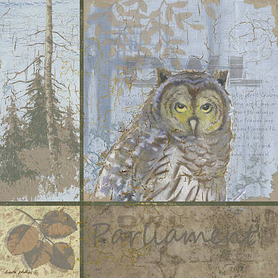 Hunting Owl Painting - Parliament by Anita Phillips