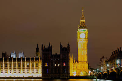 Photograph - Parliament At Night by Leah Palmer