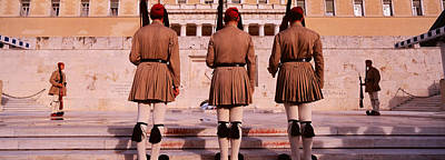 Color Guard Photograph - Parliament, Athens, Greece by Panoramic Images