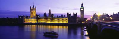 U.k Photograph - Parliament, Big Ben, London, England by Panoramic Images