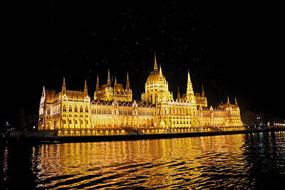 Photograph - Parliament Building At Night  by Tony Murtagh