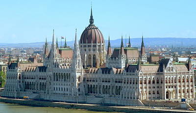 Photograph - Parliament Building In Budapest by Caroline Stella