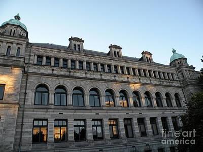 Parliament Buildings Art Print by Val Carosella