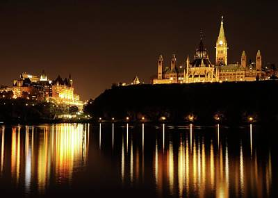 Parliament Hill And The Chateau Laurier Art Print