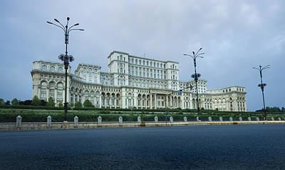 Parliament In Bucharest Art Print by Ioan Panaite