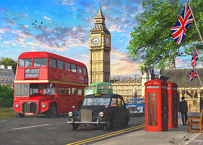 London Drawing - Parliament Square by Dominic Davison