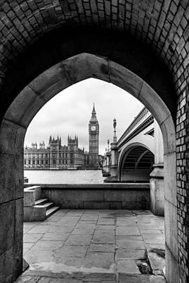 Photograph - Parliament Through An Archway by Matt Malloy