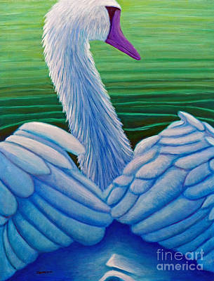 Waterfowl Painting - Parmahansa-the Supreme Swan by Brian  Commerford