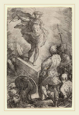 Resurrection Drawing - Parmigianino Italian, 1503-1540, The Resurrection Of Christ by Litz Collection