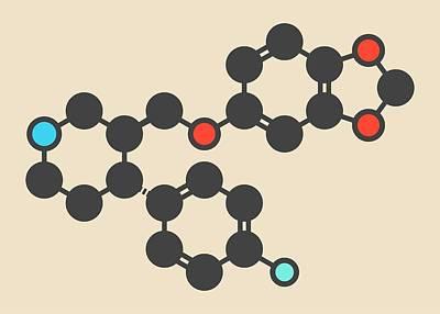 Paroxetine Antidepressant Drug Molecule Art Print