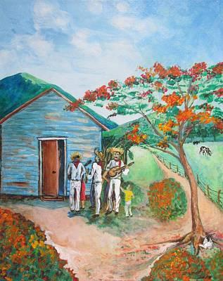 Navidad Painting - Parranda by PaZant PaZant