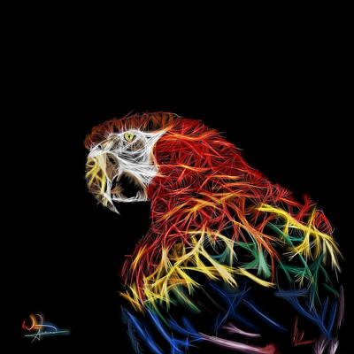 Twitter Mixed Media - Parrot Abstracto by Will Anderson