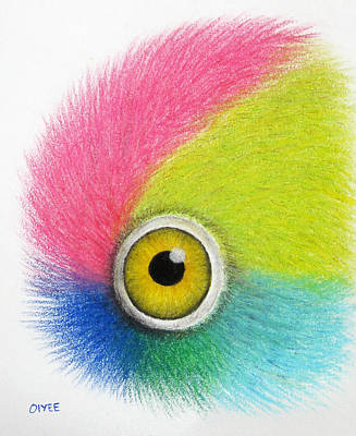 Painting - Parrot Eye by Oiyee At Oystudio