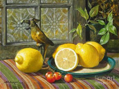 Parrot Lemons Original by David Henderson