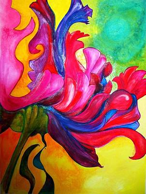 Rococo Mixed Media - Parrot Tulip by Wendy Butler