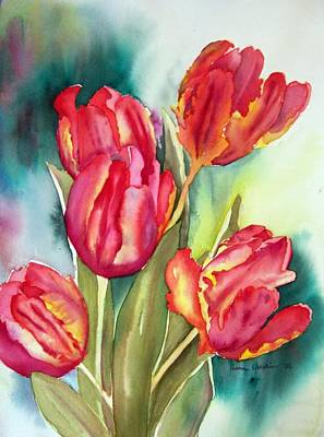 Painting - Parrot Tulips by Liana Yarckin