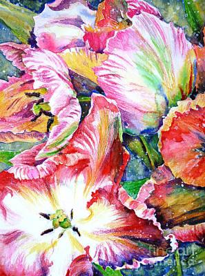 Painting - Parrot Tulips by Zaira Dzhaubaeva