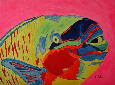 Parrotfish Art Print by Tony Baker