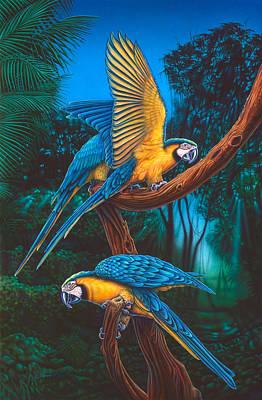 Parrots 2 Art Print by Larry Taugher