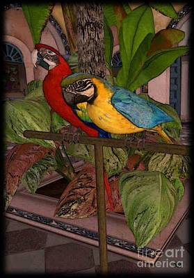 Digital Art - Parrots2 by Susanne Baumann