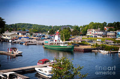 Photograph - Parry Sound Harbor  by Les Palenik
